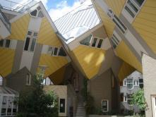 Kockaházak Rotterdamban.